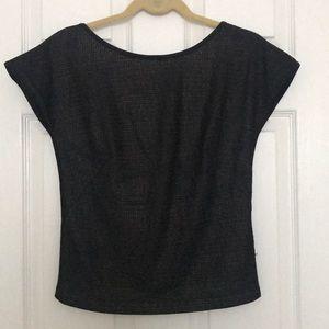 Akris Punto Black Cap Sleeve Top - Size 8